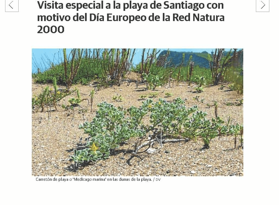 """""""Special visit to the Santiago beach to mark the European Natura 2000 Day"""""""